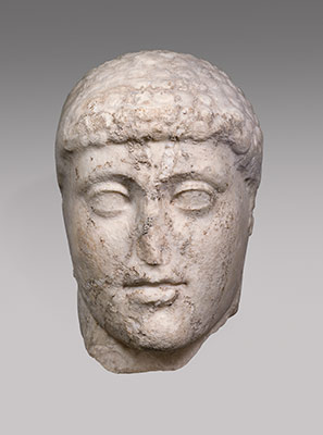 Marble head from a statue of Harmodios