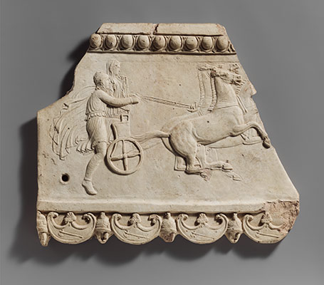 Terracotta plaque with Pelops and Hippodamia