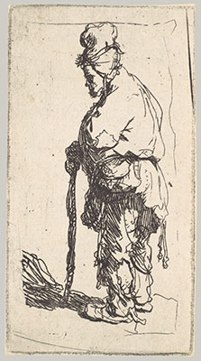 rembrandt van rijn prints essay heilbrunn  beggar leaning on a stick facing left