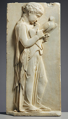 Marble Grave Stele Of A Little Girl