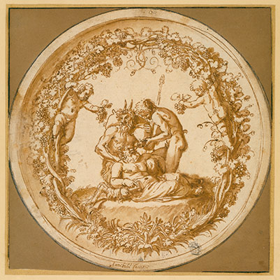 Wilton album, folio 41: The Drunken Silenus (Tazza Farnese)