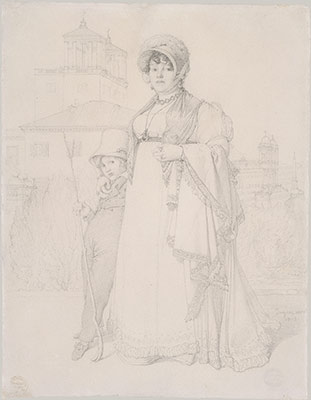 Madame Guillaume Guillon Lethiere, nee Marie-Joseph-Honoree Vanzenne, and Her Son Lucien Lethiere