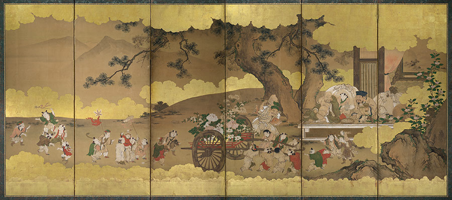 Seven Gods Of Good Fortune And Chinese Children Kano
