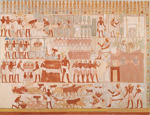 Nebamun Supervising Estate Activities, Tomb of Nebamun