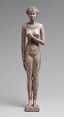 Statuette of a Royal (?) Woman with the Cartouches of Necho II on her Arms