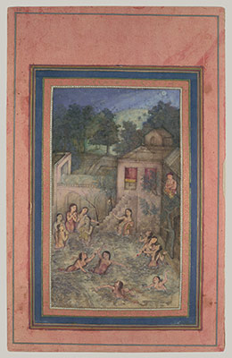 Women Bathing by Moonlight: Folio from the Davis Album