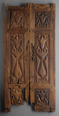 Pair of Doors Carved in the Beveled Style
