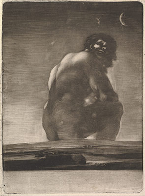A Giant Seated in a Landscape, sometimes called The Colossus
