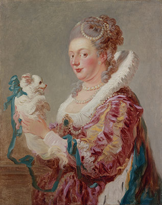 Portrait of a Woman with a Dog