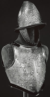 Helmet, Breastplate, and Backplate