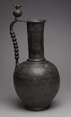 Ewer with inscriptions and hunting scenes