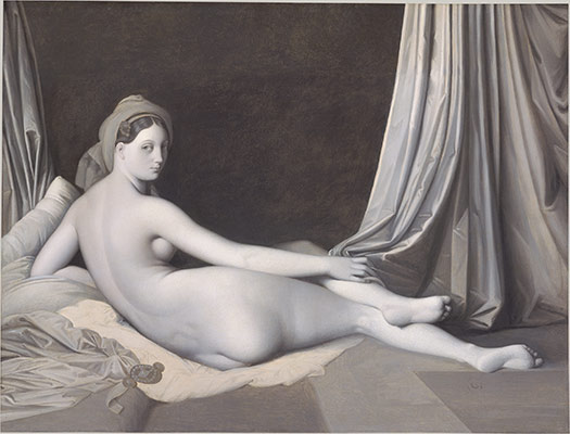 Odalisque in Grisaille