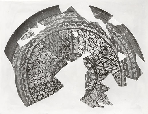 Fragments of a Plate with Engraved Designs