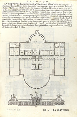 Villa Barbaro at Maser: From I quattro libri dellarchitettura (book 2, page 51)