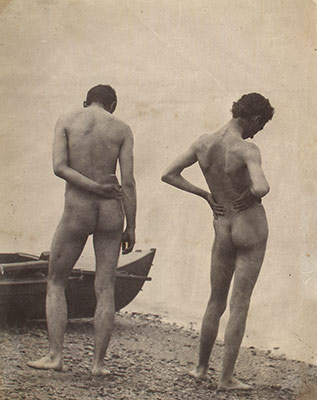 [Thomas Eakins and John Laurie Wallace on a Beach]