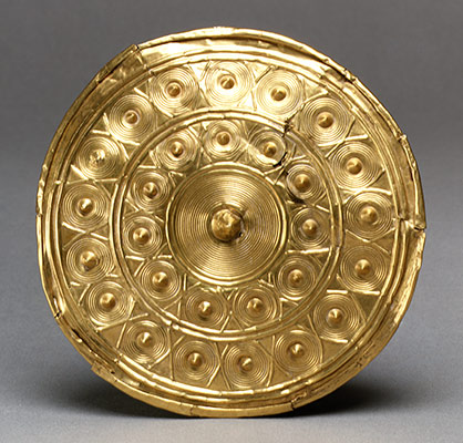 Gold Disk from a Spool