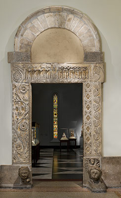 Doorway from the Church of San Nicolò, San Gemini