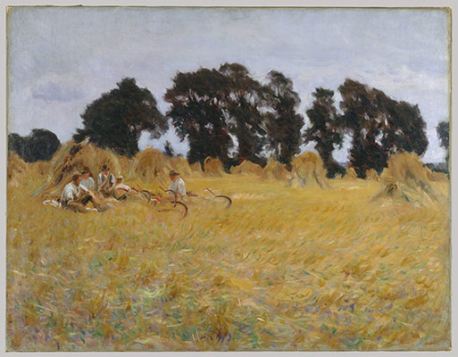 Reapers Resting in a Wheat Field
