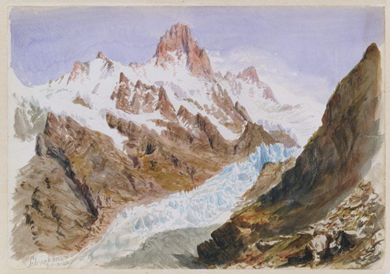 Schreckhorn, Eismeer (from Splendid Mountain Watercolours Sketchbook)