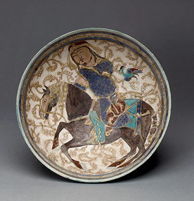 Bowl with prince on horseback