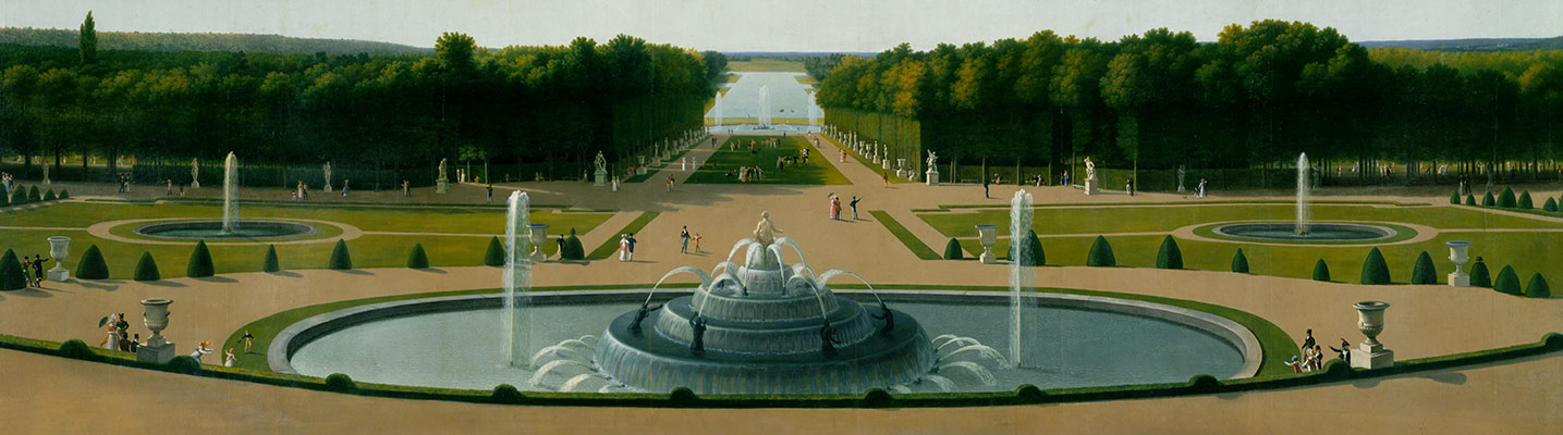 Panoramic View of the Palace and Garden of Versailles