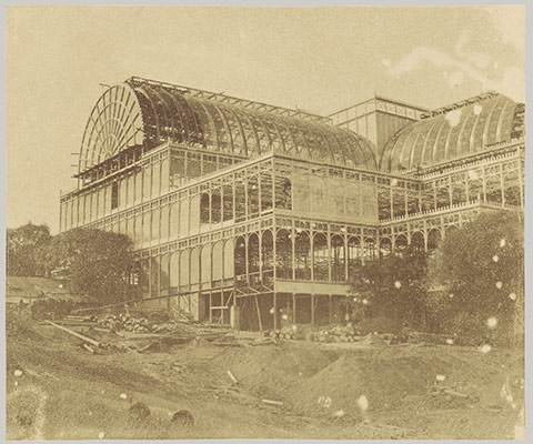 Progress of the Crystal Palace at Sydenham