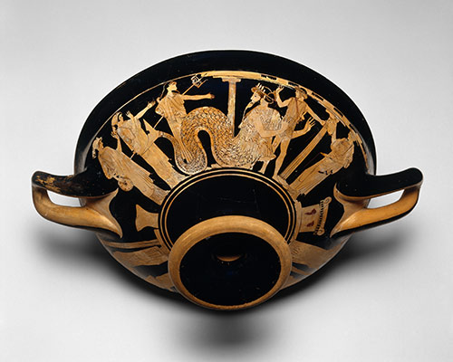 theseus  hero of athens   essay   heilbrunn timeline of art    terracotta kylix  drinking cup