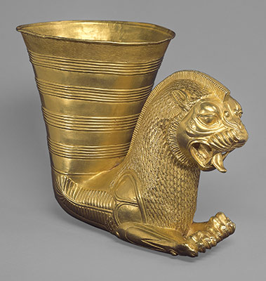 the achaemenid persian empire b c essay heilbrunn  vessel terminating in the forepart of a fantastic leonine creature