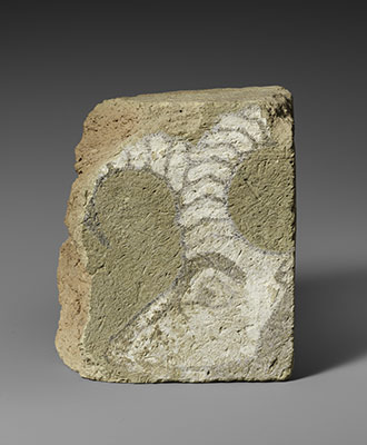 Brick fragment with the head of an ibex