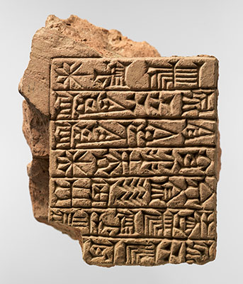 Inscribed brick: dedicatory inscription of Adad-shuma-usur