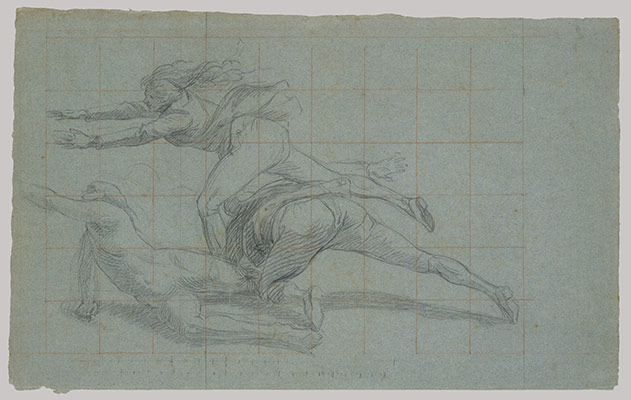 Study for The Siege of Gibraltar: three figures