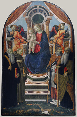Madonna and Child Enthroned with Saints and Angels