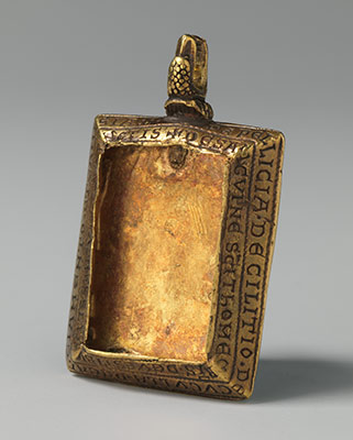 Reliquary Pendant with Queen Margaret of Sicily Blessed by Bishop Reginald of Bath