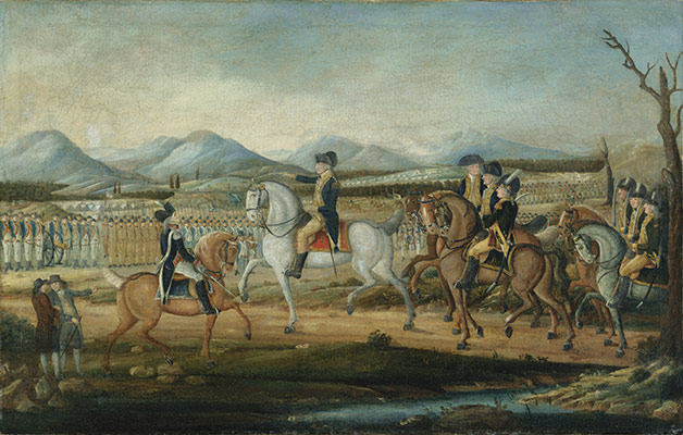 Washington Reviewing the Western Army, at Fort Cumberland, Maryland