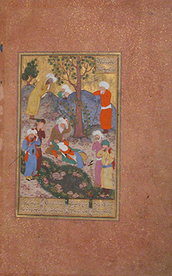 Shaikh Sanan and the Christian Maiden, Folio 22v from a Mantiq al-Tair (Language of the Birds)