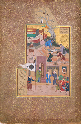 Funeral Procession, Folio 35r from a Mantiq al-tair (Language of the Birds)
