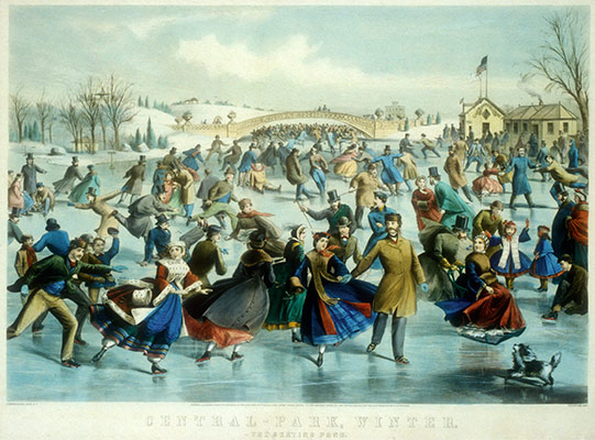 Central Park, Winter: The Skating Pond