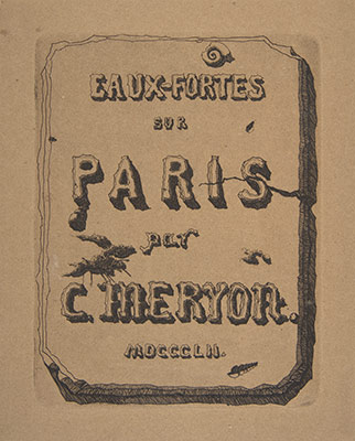 Etchings of Paris; Title page to the suite