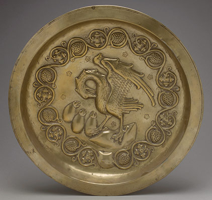 Plate with Pelican