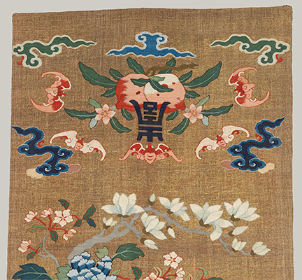 One of a Pair of Chair Strips with Auspicious Patterns