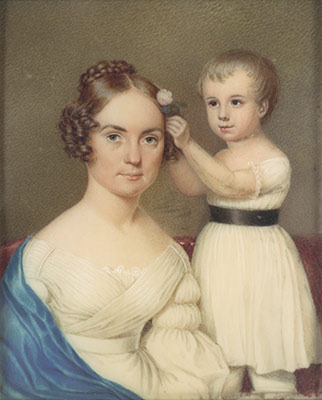 Mrs. William Beekman Ver Planck and Her Son William Beekman Ver Planck