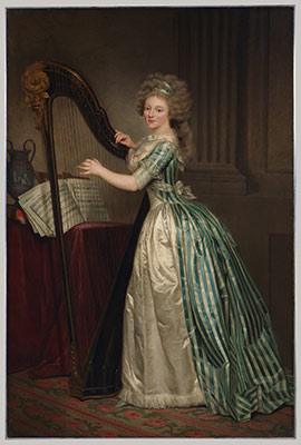 eighteenth century women painters in essay heilbrunn  self portrait a harp