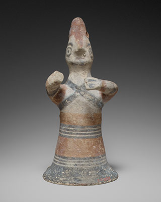 Terracotta statuette of a man, probably a warrior