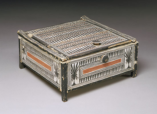 Cosmetic Box from the tomb of Sennedjem