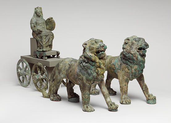 Statuette of Cybele on a cart drawn by lions