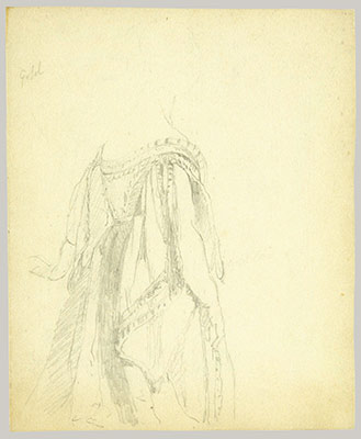 Study of the Queens Robes (Study for Portrait of Queen Victoria)