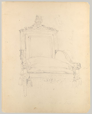 Study of the Throne in the House of Lords (Study for Portrait of Queen Victoria)
