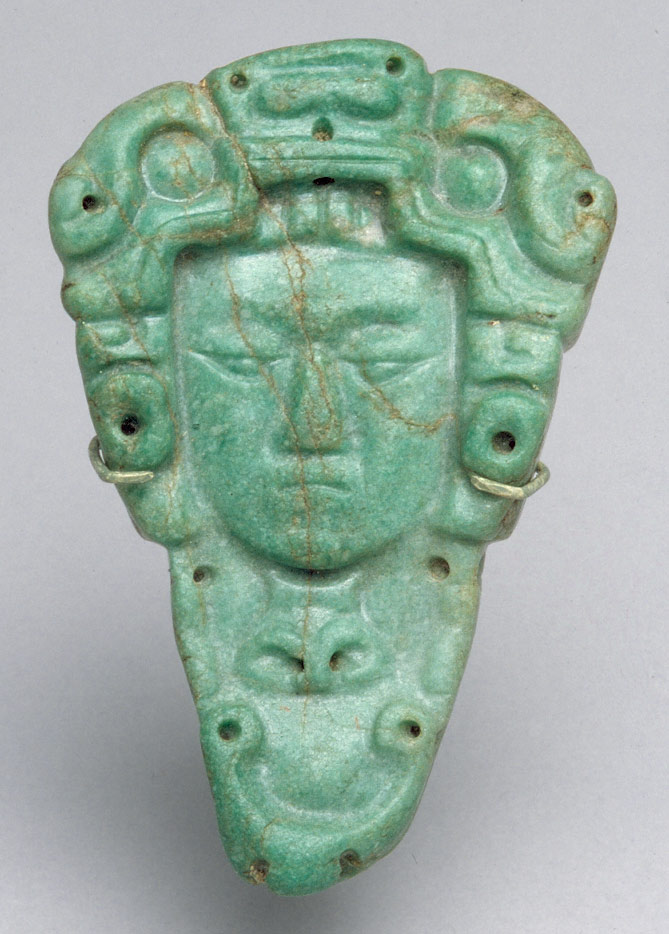 head pendant from ancient mexico