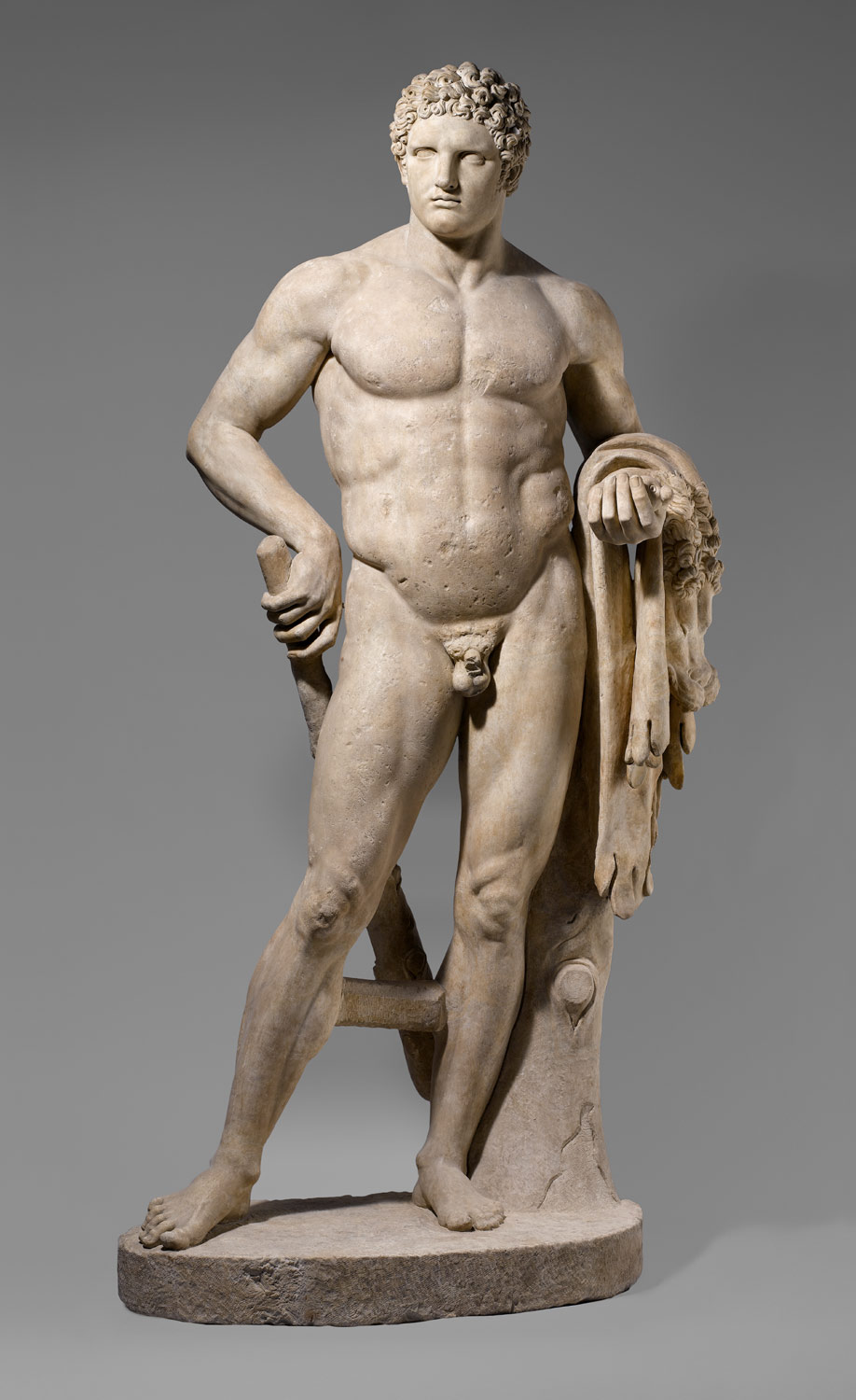 Marble statue of a youthful Hercules