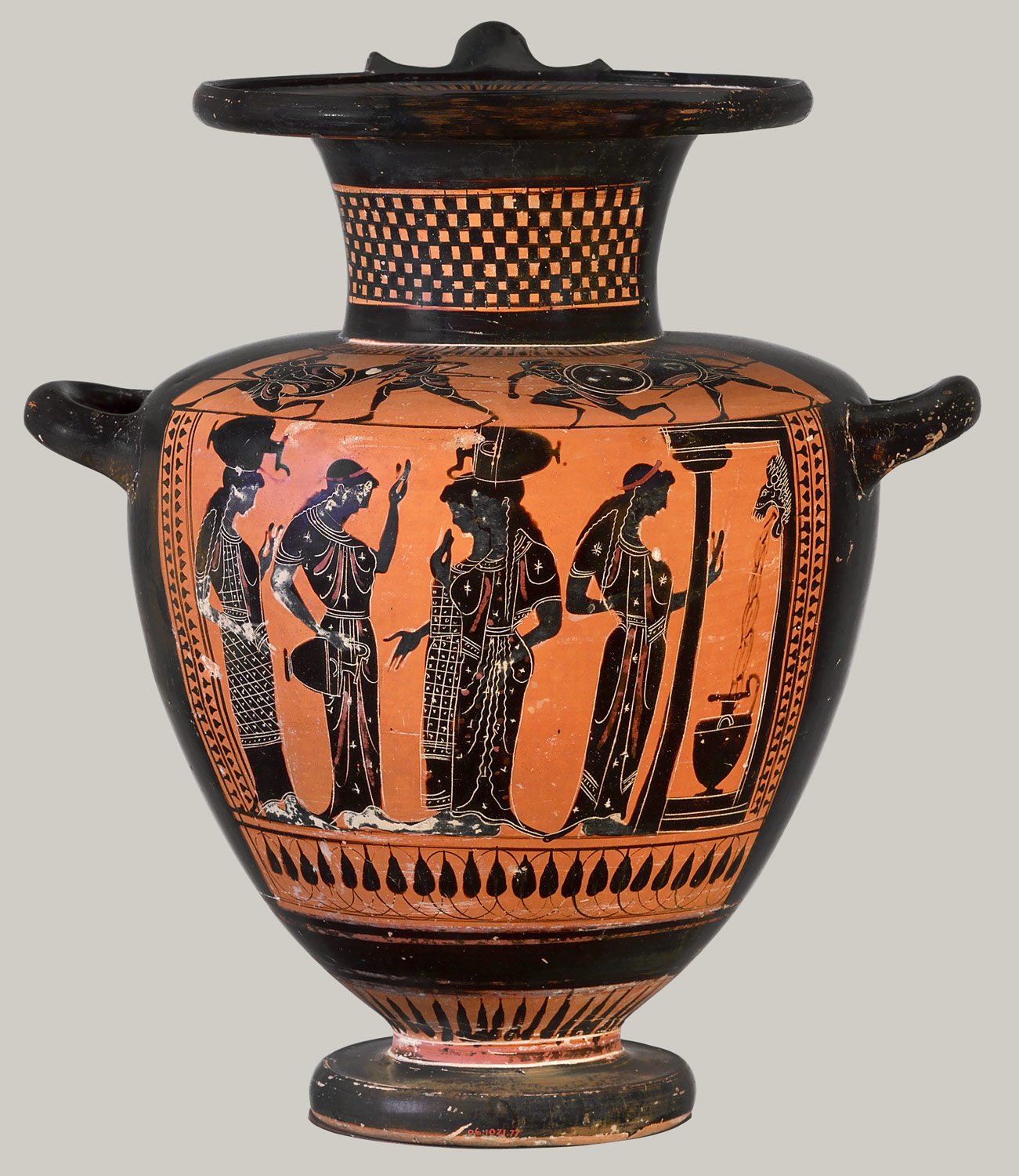 Athenian vase painting black and red figure techniques essay terracotta hydria water jar reviewsmspy